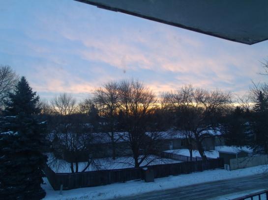 Morning sunrise this morning.