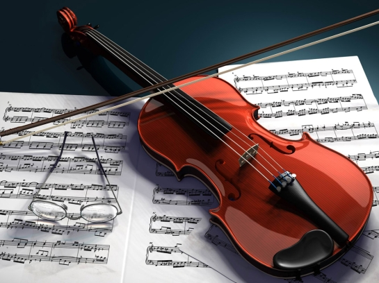 violin-and-notes